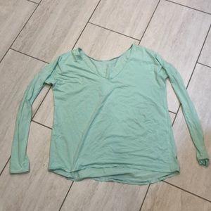 Mint green LuluLemon long sleeve top